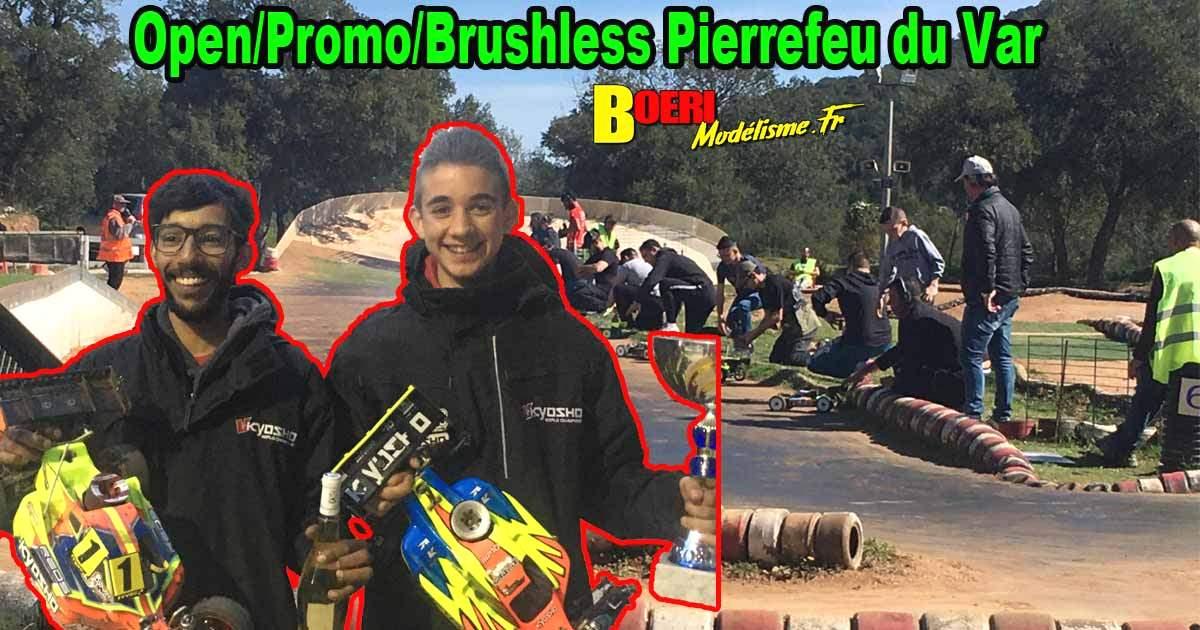 1ère course open promo brushless tt 1/8 thermique club pierrefeu du var vamp83 avec rayan medjoubi kyosho, yannick aigoin xray