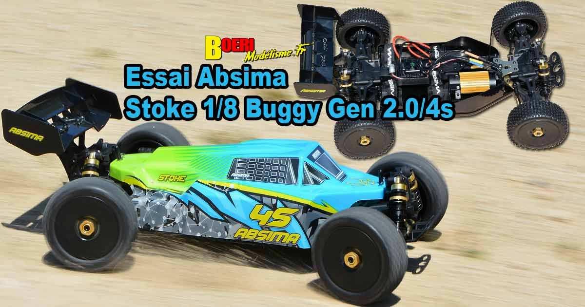 essai absima buggy stoke 1/8 électrique brushless rtr level 2.0 4s réf 13100