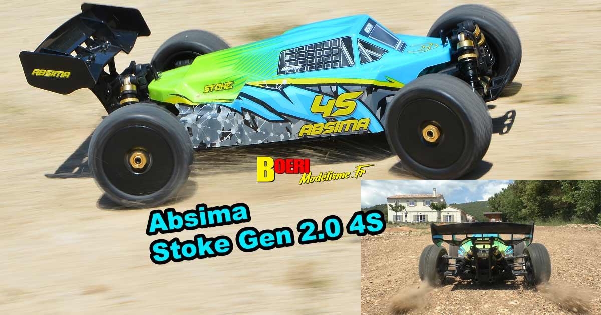 vidéo en action sur piste de l'absima buggy stoke 1/8 électrique brushless rtr level 2.0 4s réf 13100