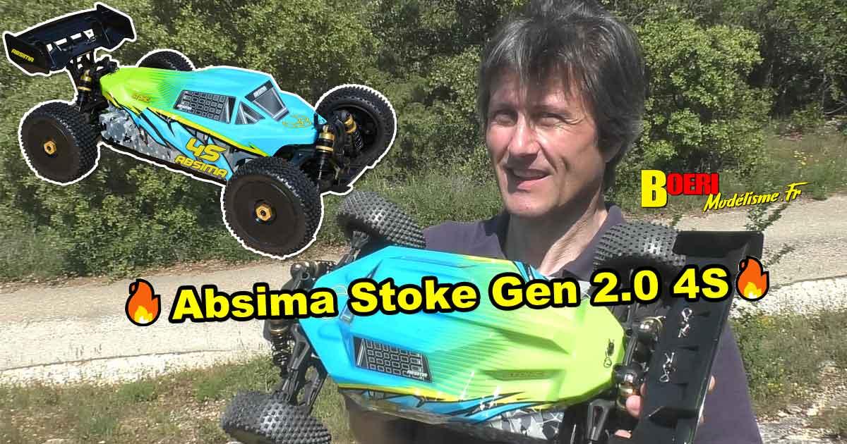 vidéo de présentation du buggy absima stoke 1/8 électrique brushless rtr gen 2.0 4s réf 13100