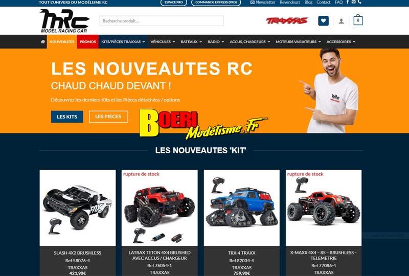 modélisme l'importateur model racing car (mrc) présente son nouveau site internet de voitures radiocommandées traxxas rc system