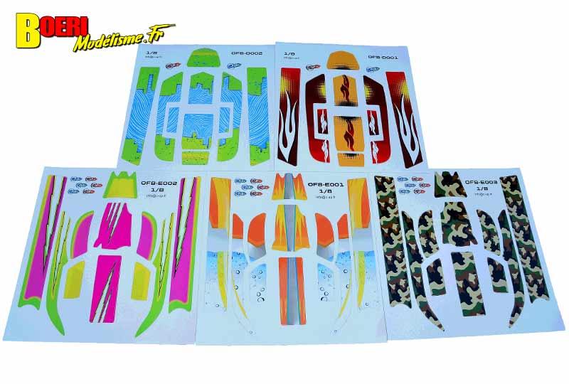 stickers modelisme rc cars tt 1/8 c pub.fr pour carrosserie lexan et polycarbonate et tt /10