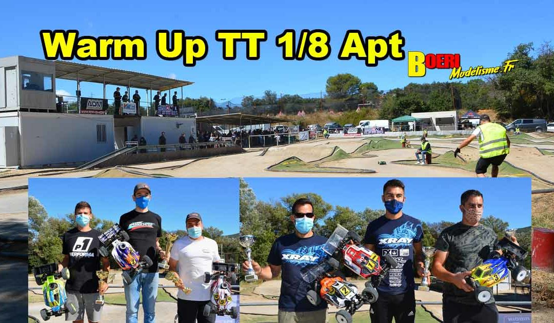 Warm Up TT 1/8 Thermique Apt Pegase RC Racing