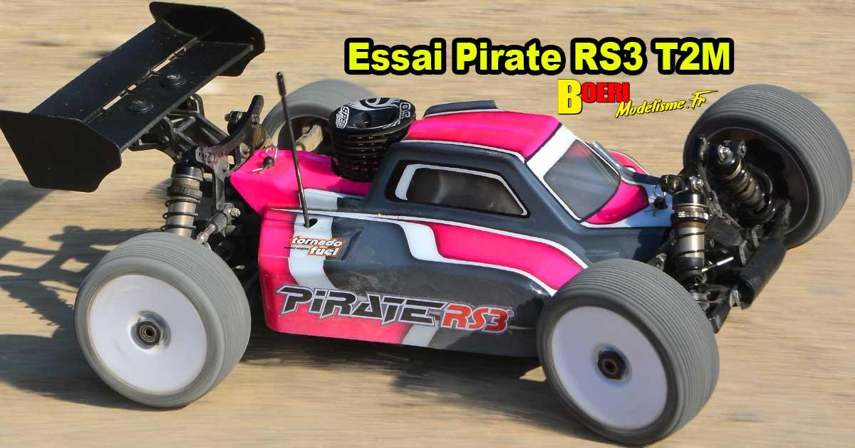 essai t2m pirate rs3 tt 1/8 thermique t4960 buggy de modélisme rc nitro kit compétition