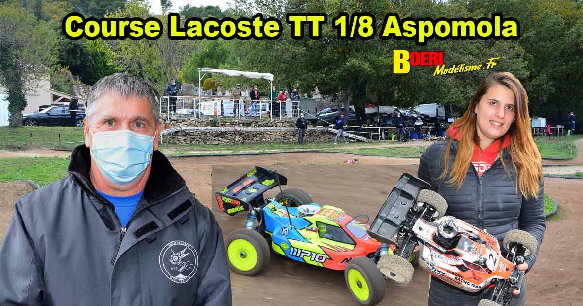 course lacoste tt 1/8 thermique et brushless club aspomola 25 octobre 2020