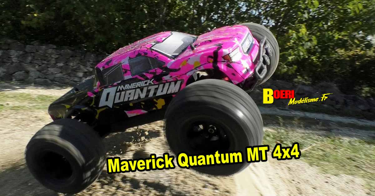 vidéo maverick quantum mt 4x4 monster truck électrique 1/10 réf 150101
