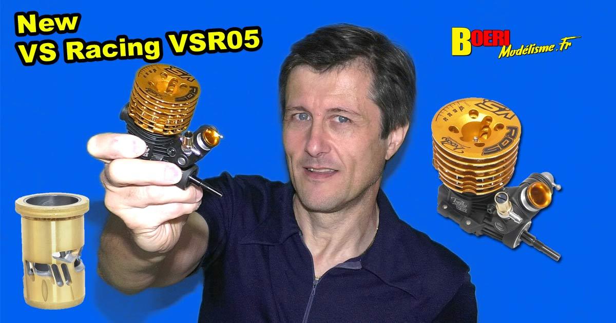 vidéo moteur thermique vs racing vsr05 on road piste 3.5 cm3 avec nouvelle chemise 9 transferts et culasse by world champion products