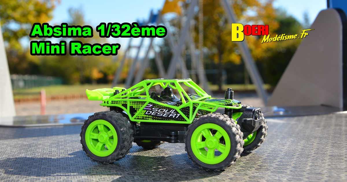 vidéo voiture absima rc 1/32 mini racer rtr first step performance électrique